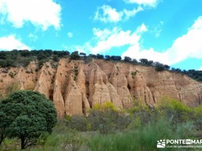 Cárcavas del Río Perales - Sierra Oeste de Madrid; senderos viajes y turismo; turismo activo